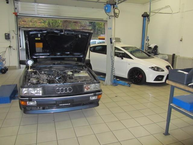 Audi Quattro 2.2lt Typ 857 147KW in mechanischer Arbeit
