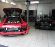 Audi R8 5.2lt V10 und Audi R8 5.2lt V10 Spyder