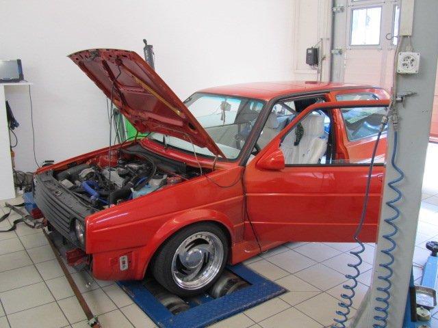 VW Golf 2 G60 2.0lt 169KW auf Leistungsprüfstand