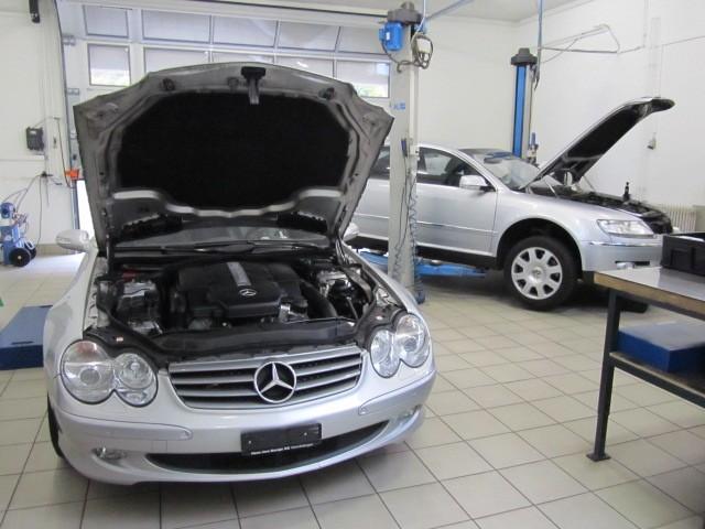 Mercedes SL AMG USA Fahrzeug wird für CH Homologation vorbereitet