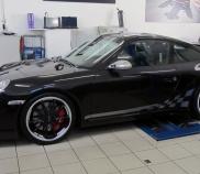 Porsche 997 GT3, Leistung 305kW/415 PS, Drehmoment 405 Nm (5500 1min) Max. U/Min. 8400
