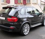 BMW X5 3.0 TDI mit Fahrwerktieferlegung und Umbau der Endrohre auf Audi R8 Look