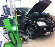 Mercedes Benz AMG USA Fahrzeug wird für CH Homologation vorbereitet
